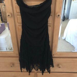 Arden B Black Strapless Cocktail Dress Size S